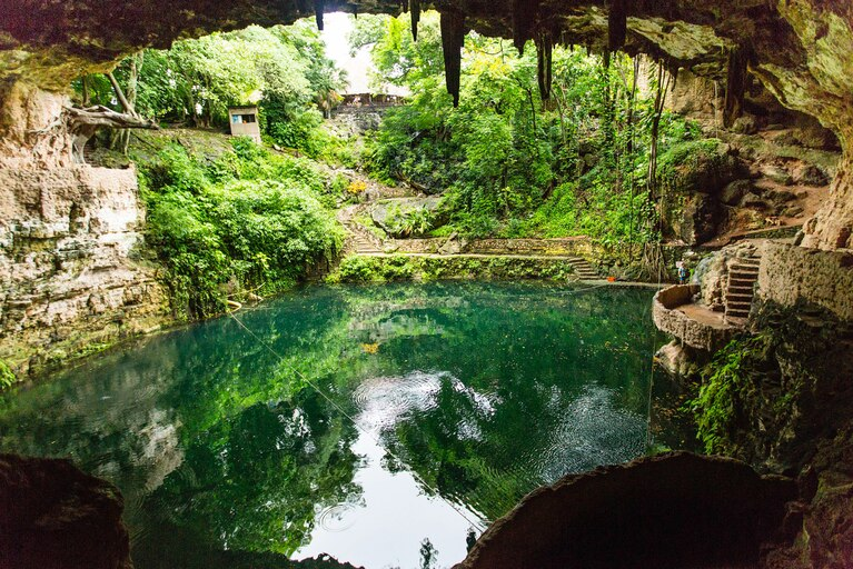 Cenotes (underwater caves)