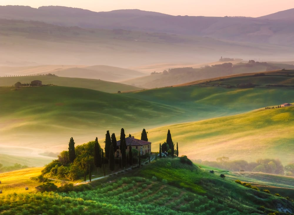 Day trip through the rolling Tuscan hills
