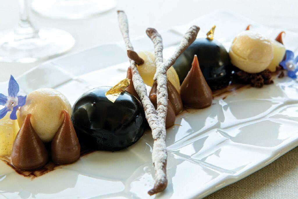 Chocolate wedding dessert