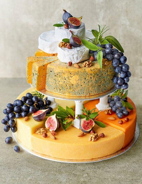 Wedding reception cheese dish