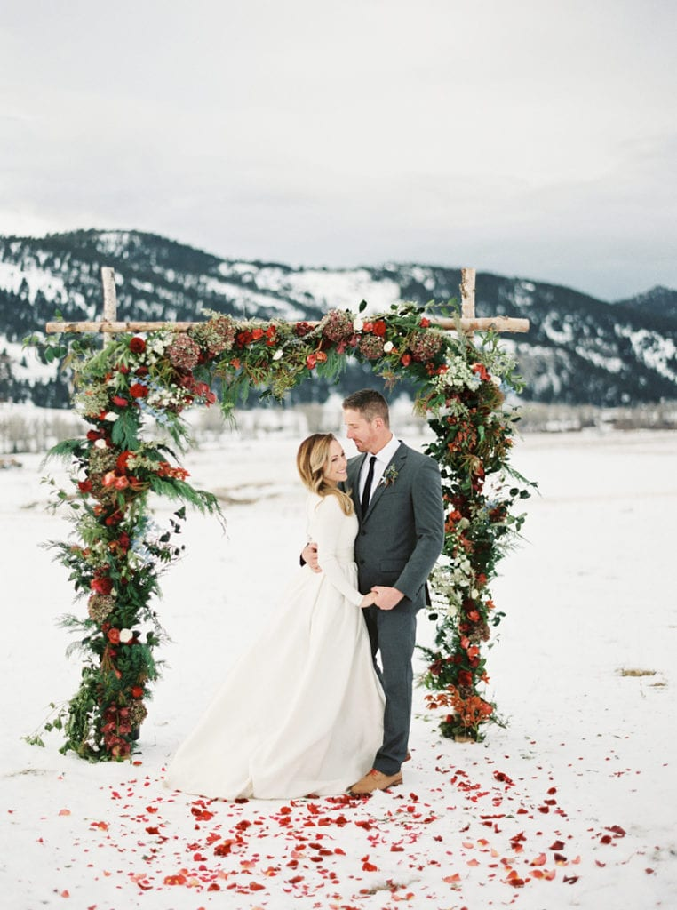 Christmas Themed Wedding in Winter