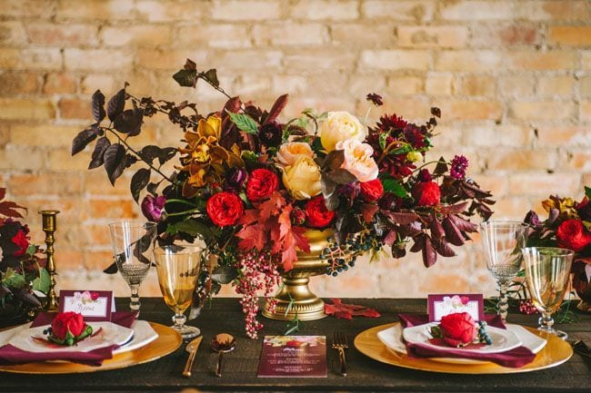 Thanksgiving Wedding Table