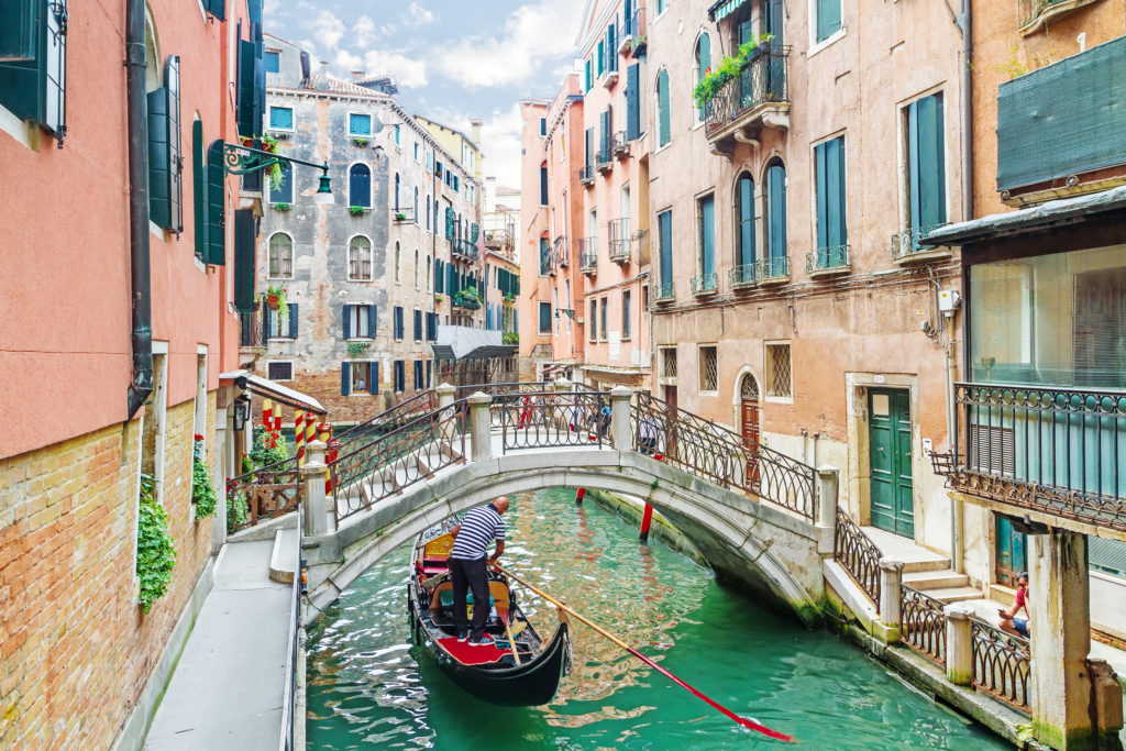 Venice Canal in Italy