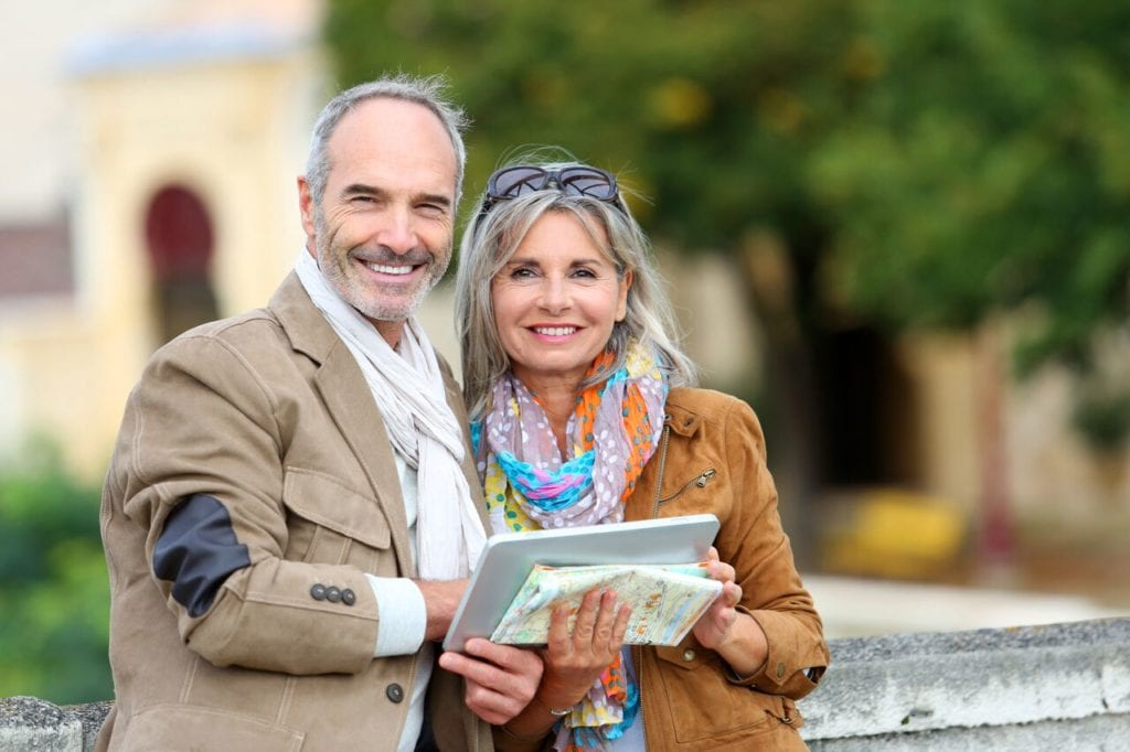 Older couple on honeymoon