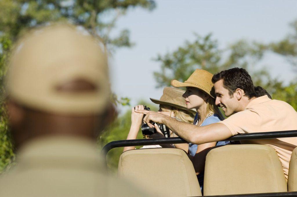 Newly Wed Couple On Safari Honeymoon
