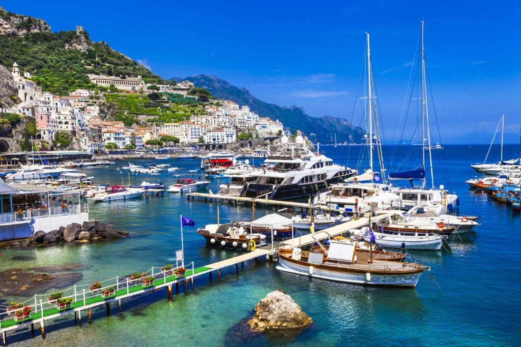 Amalfi boats in Italy