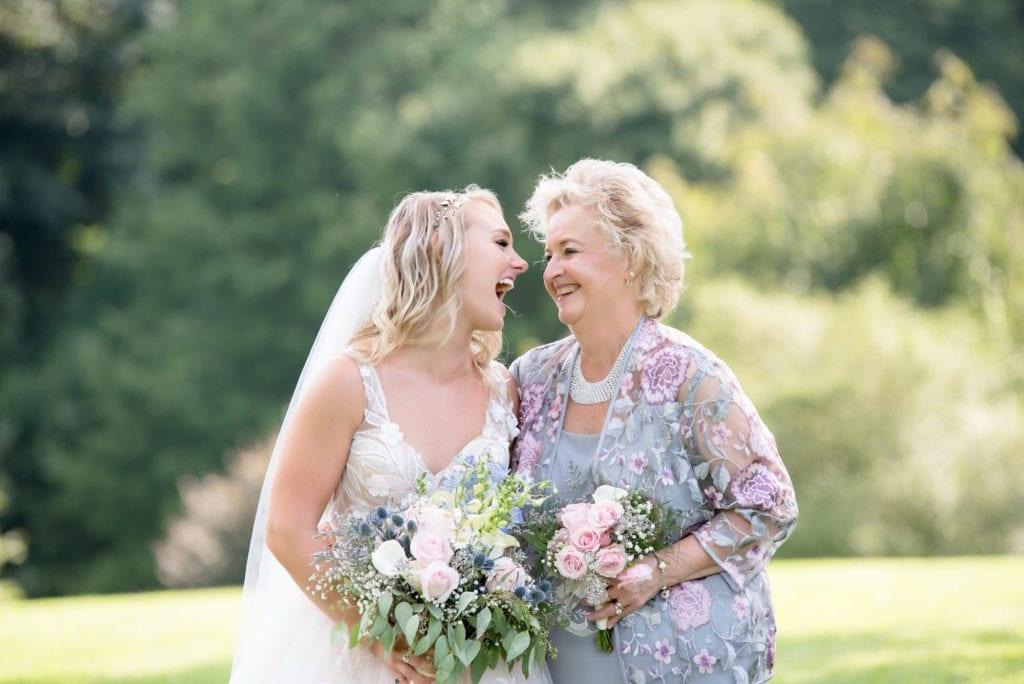 happy bride at wedding