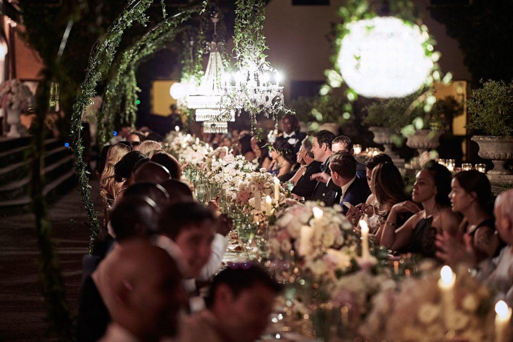 guests enjoying wedding celebration