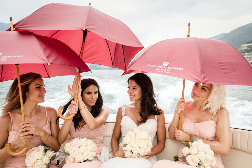 Bride traveling with bachelorettes