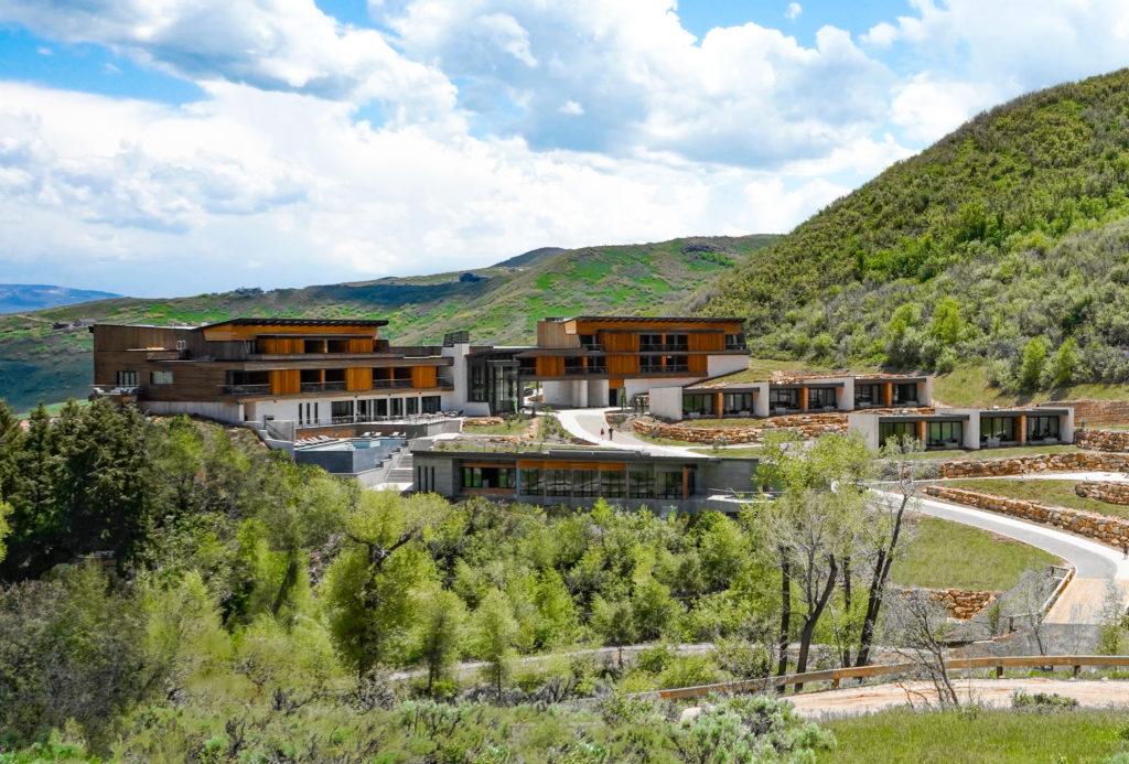Ranch among mountains