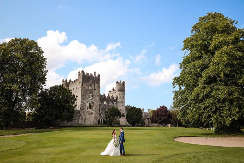 Wedding Couple in the Castle in Ireland