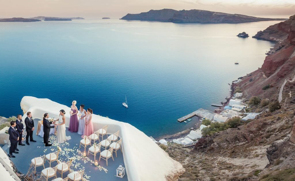 Wedding at Canaves Oia in Santorini, Greece