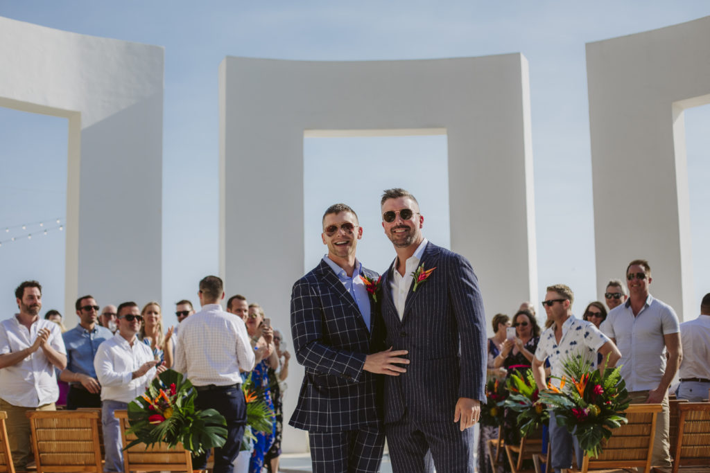 Two men getting married at an LGBTQ+ friendly wedding venue