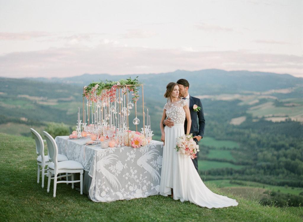 Wedding on Tuscan hillside