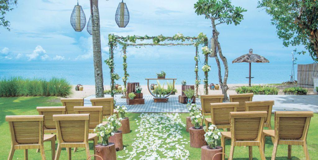 Outdoor Bali Beach Wedding
