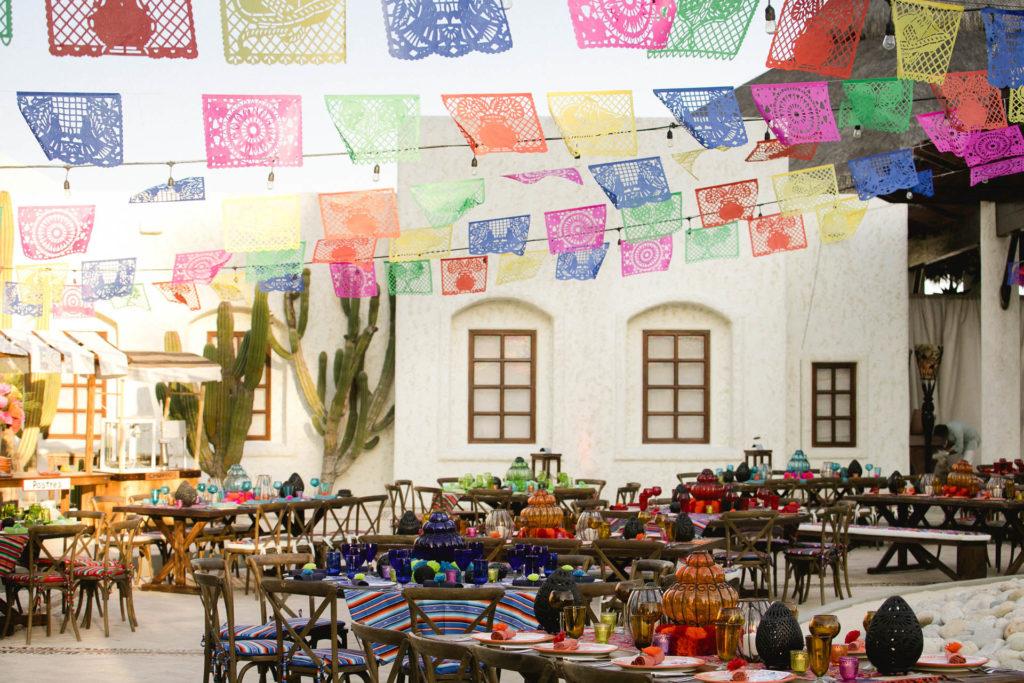 Mexican wedding table decor