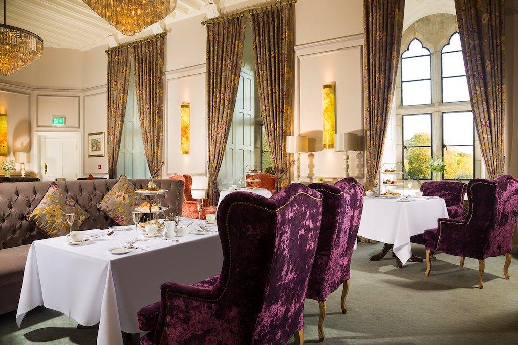 Elegant dining room afternoon tea service