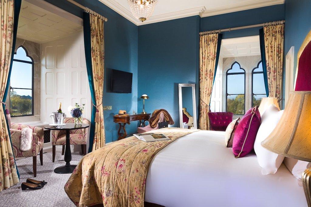 Luxury guestroom in Irish castle