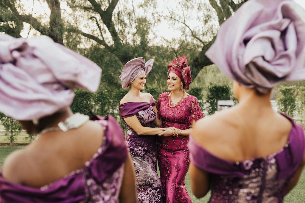 Nigerian bride & maid of honor