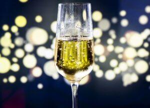 Champagne Flute Half full