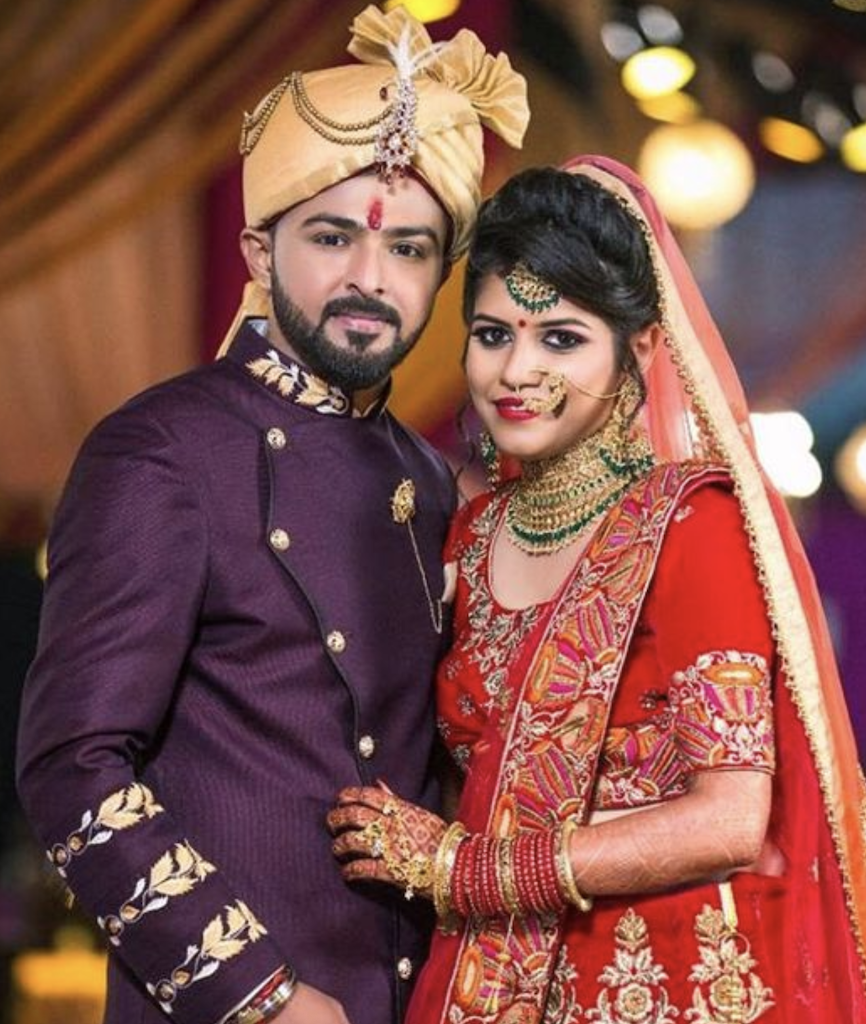 Indian couple with Tilak