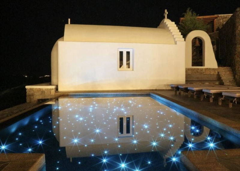 villa at night chapel