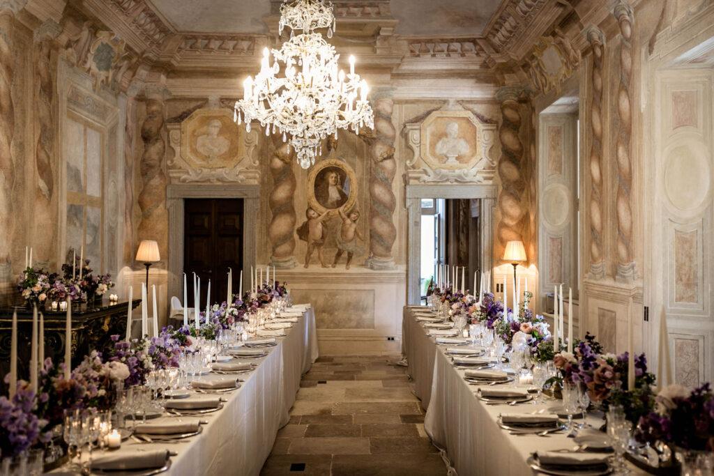 Banquet in an Italian villa