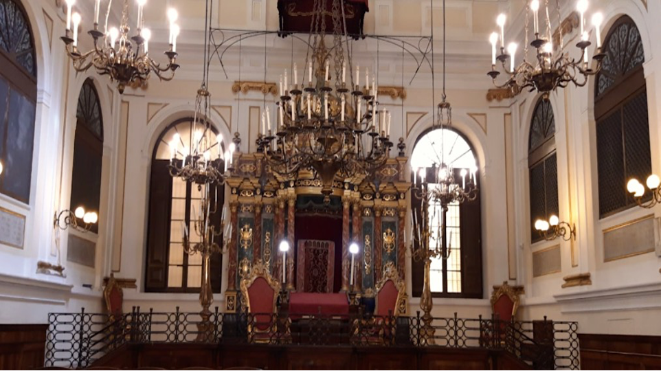 Synagogue interiors of ANCONA, MARCHE Italy