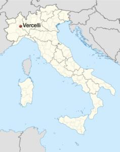 map of VERCELLI, PIEDMONT