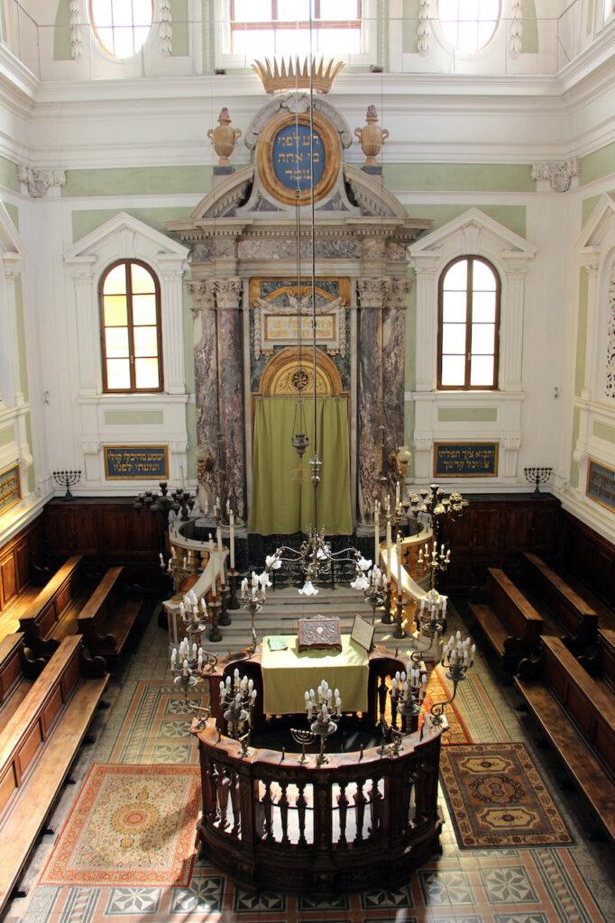 Synagogue of Siena Italy interiors