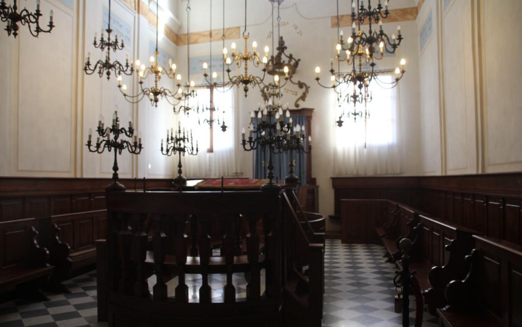 interiors of synagogue of PITIGLIANO, TUSCANY